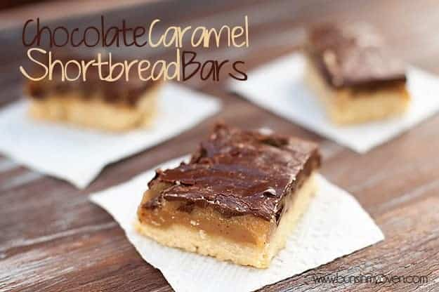 Chocolate Caramel Shortbread Bars — Buns In My Oven
