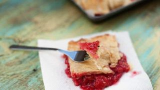 Raspberry Slab Pie