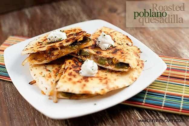 Roasted Poblano Quesadilla recipe