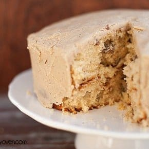 butter pecan cake with caramel frosting