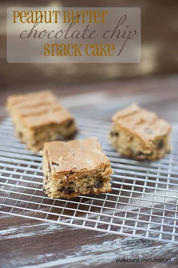 Chocolate chip snack cake recipes