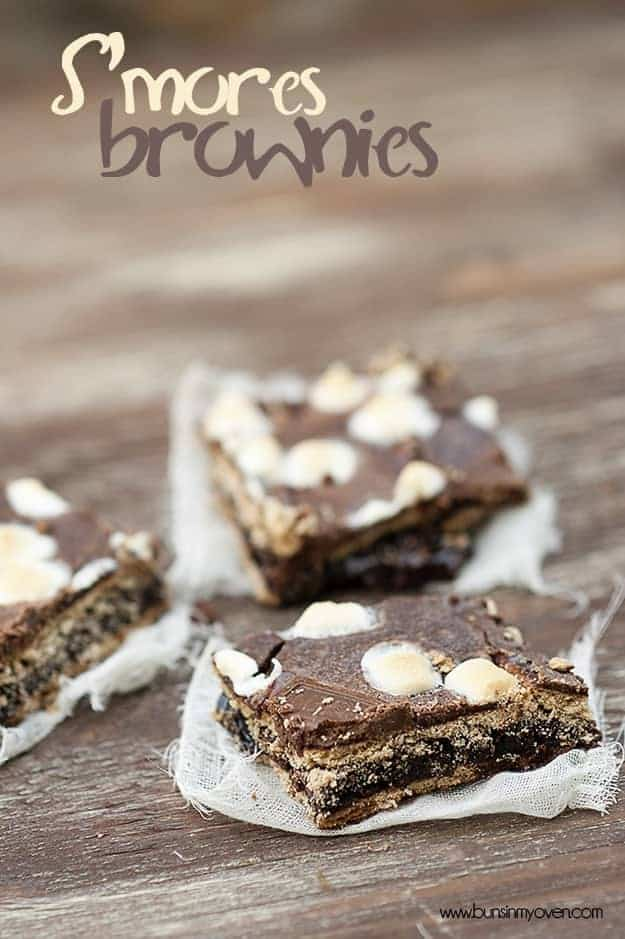 mores Brownies -