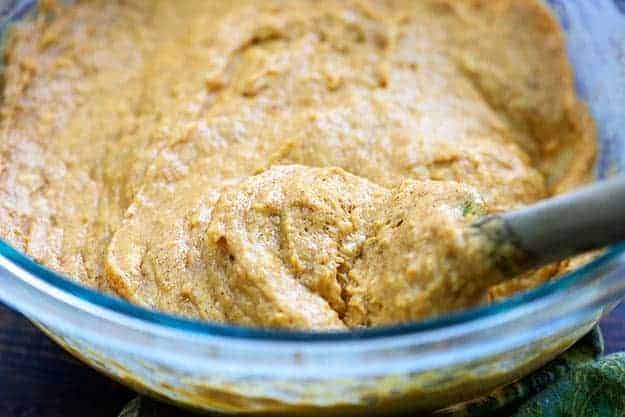 pumpkin muffin batter