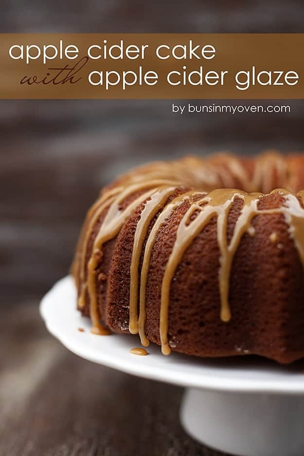 Apple Cider Pound Cake with Apple Cider Glaze recipe