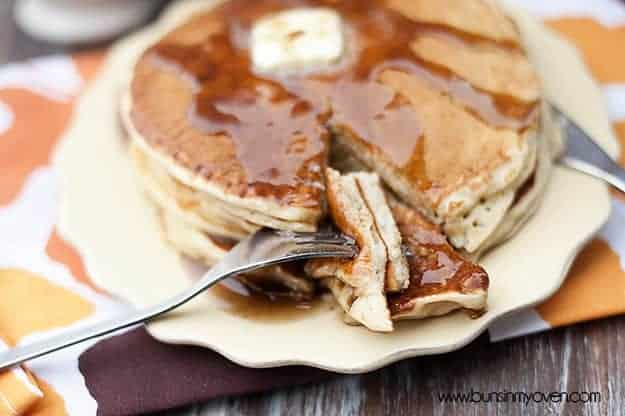 Apple Cider Pancakes with Cinnamon Syrup recipe