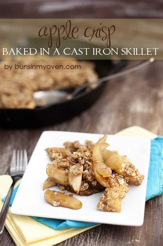 Apple Crisp {Baked in a Cast Iron Skillet} recipe