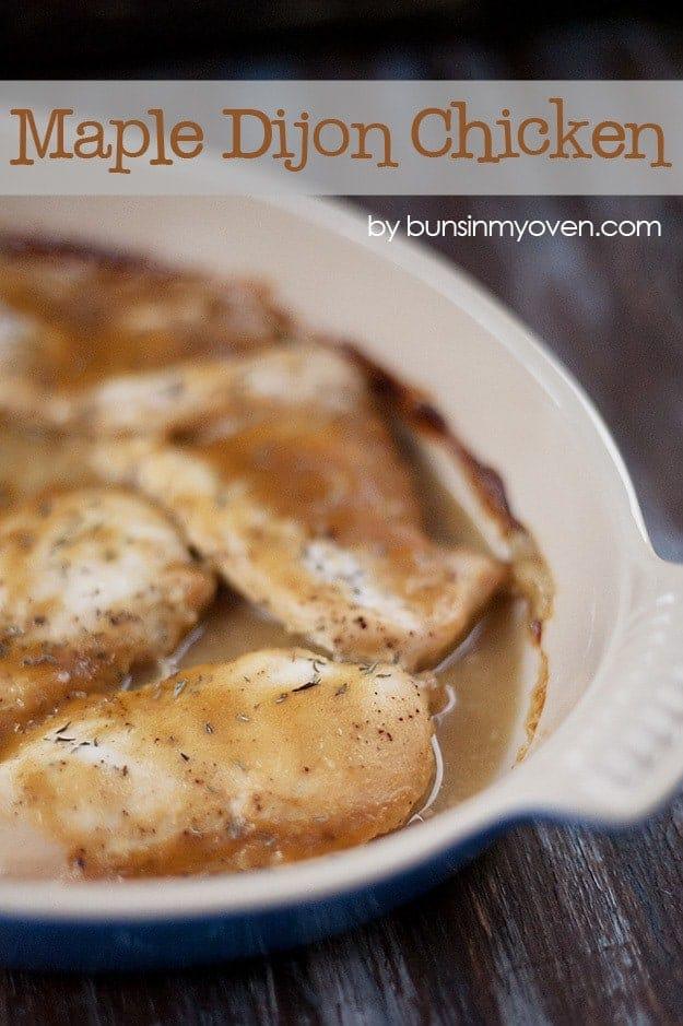 maple dijon chicken recipe from bunsinmyoven.com