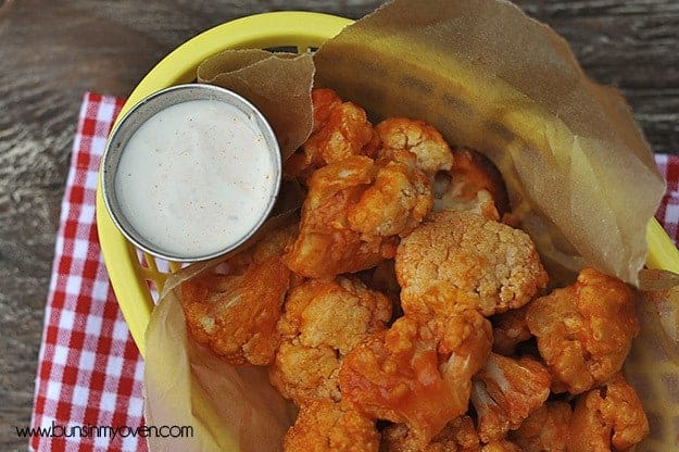 "Buffalo ""Chicken"" Cauliflower Bites"