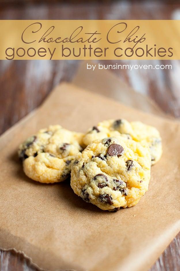 Gooey butter cookies on waxpaper