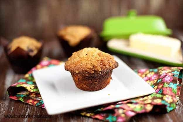 Blackberry Muffins with Streusel Topping recipe