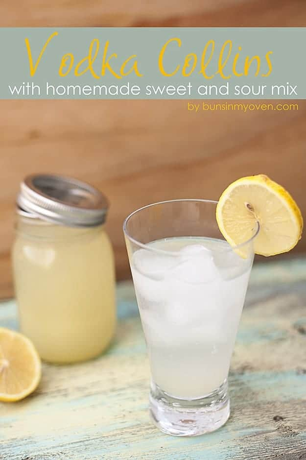 This Vodka Collins is a simple, classic cocktail that is so light and refreshing!