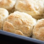 easy homemade biscuits in baking dish