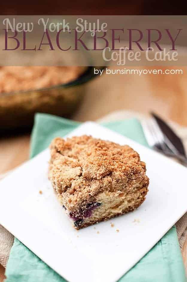 New York Style Blackberry Coffee Cake recipe