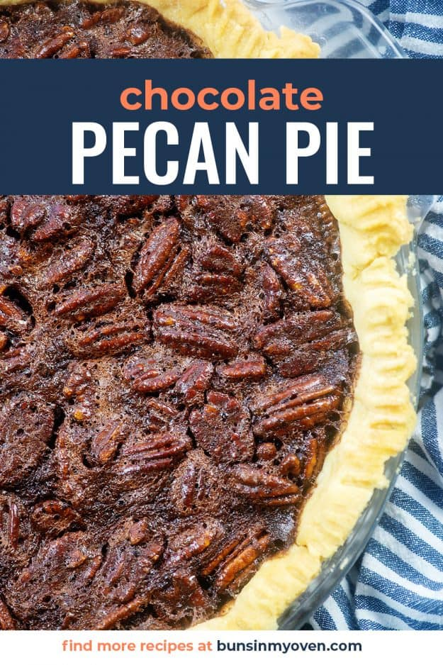 pecan pie in pie plate.
