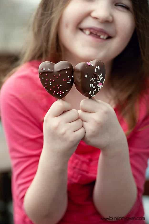 chocolate covered peeps hearts recipe