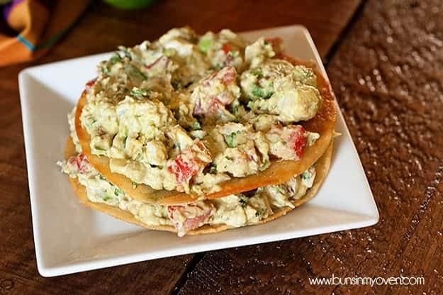 Guacamole Tostadas Recipe by bunsinmyoven.com