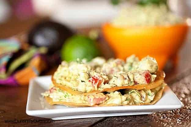 Guacamole Tostada Recipe by bunsinmyoven.com