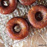 Brown Sugar Glazed Banana Donuts