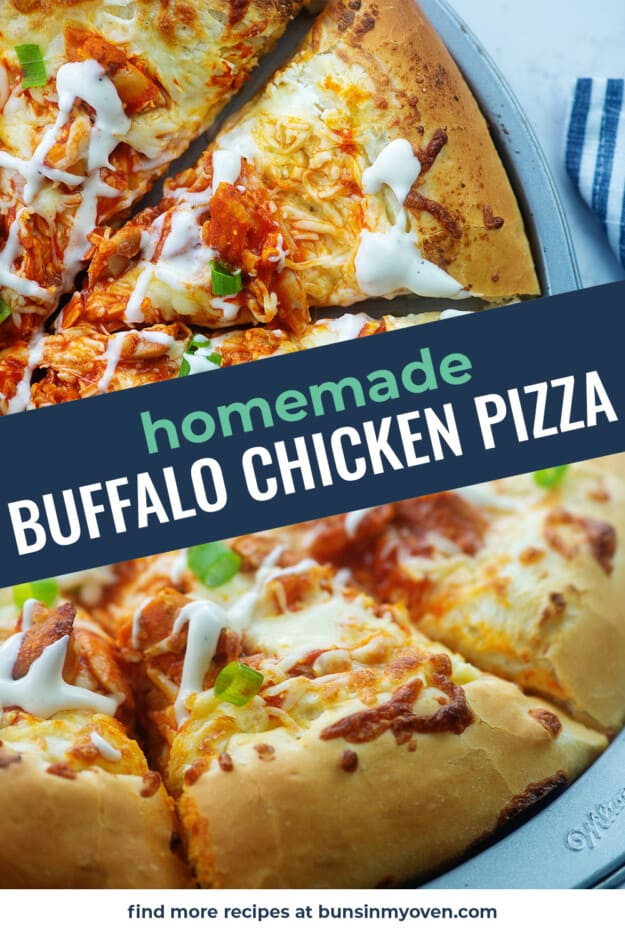 collage of chicken pizza images.