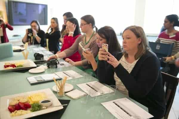What do bloggers do when a plate of cheese is placed in front of them? They Instagram it. Then they stuff their faces.