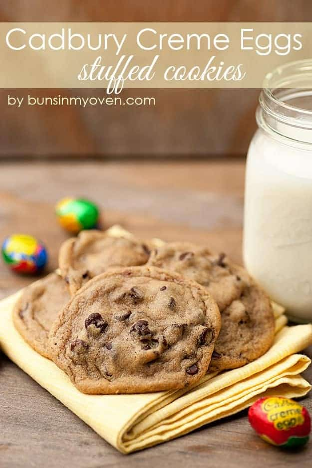 cadbury creme egg stuffed cookies recipe