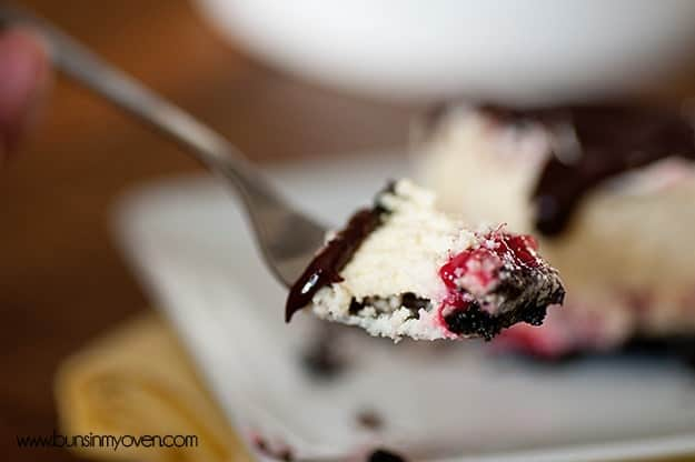 Mini Cheesecake Recipe with Raspberries and Chocolate
