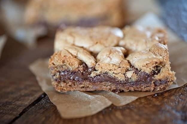 Nutella Cookie Bars Recipe