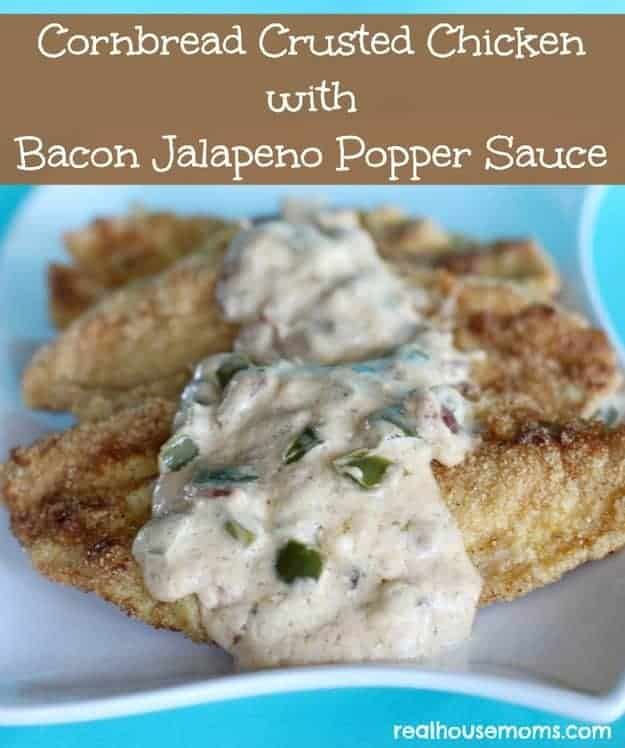 want this Cornbread Crusted Chicken with Bacon Jalapeno Sauce to rub ...