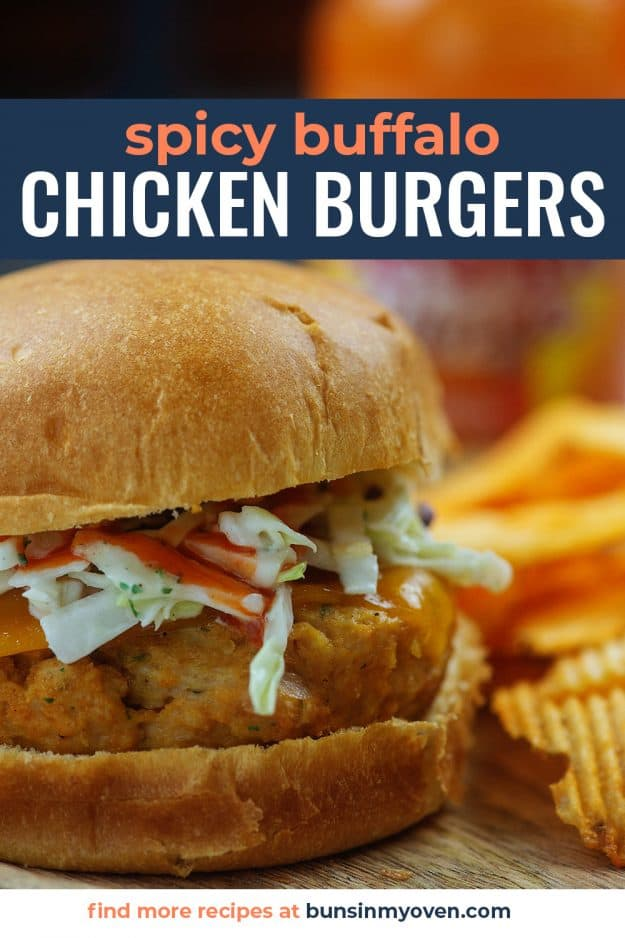 spicy chicken patty on bun with slaw