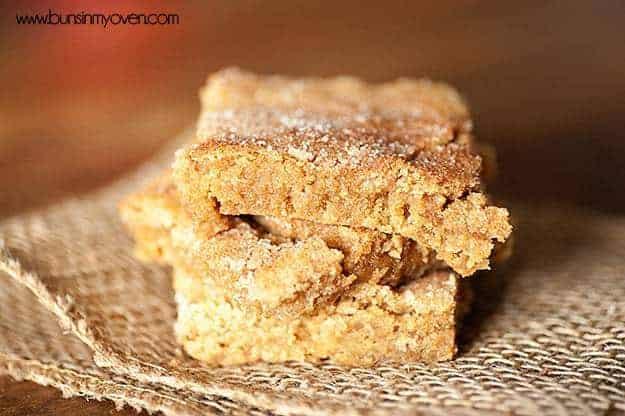 brown sugar snickerdoodle bars