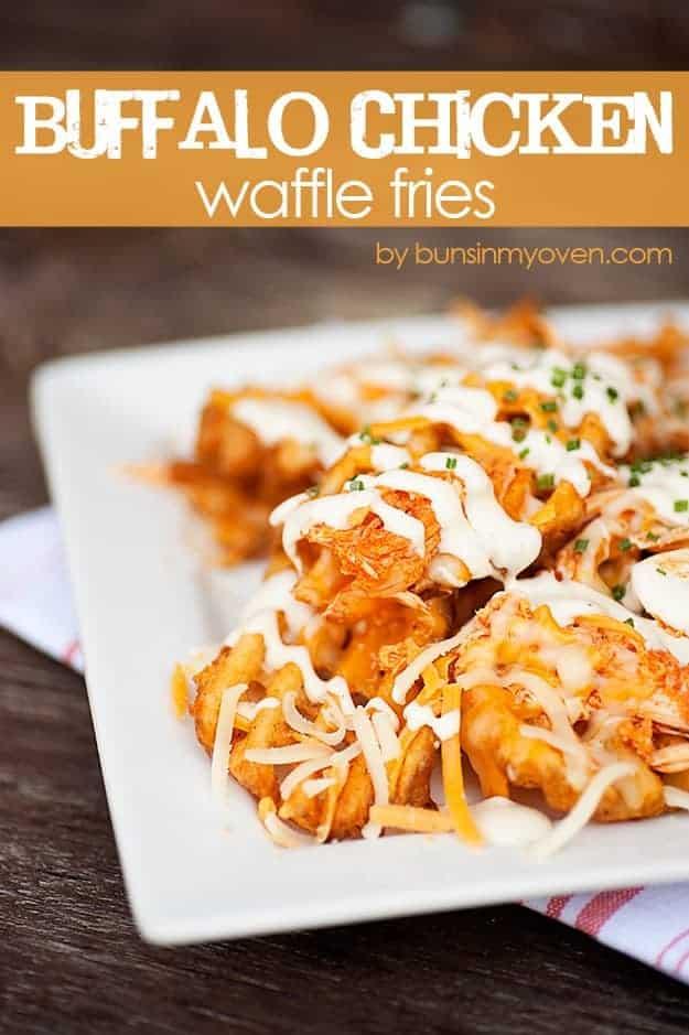 buffalo chicken waffle fries recipe