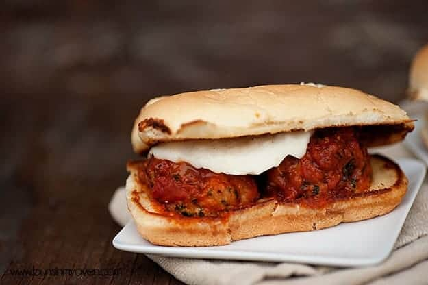 Chicken Parmesan Meatball Subs | Get dinner on the table in just 30 minutes!