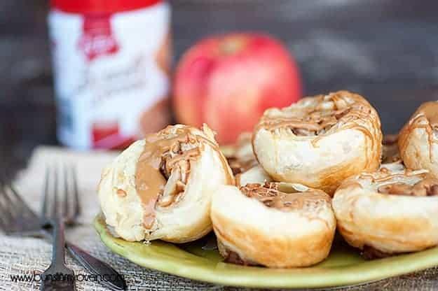 Biscoff Apple Pie Pinwheels #recipe by bunsinmyoven.com