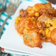 Sloppy Joe Tater Tot Casserole #recipe by bunsinmyoven.com
