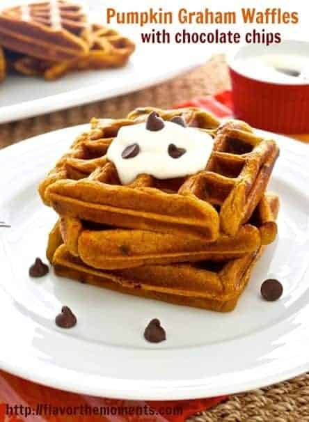 Pumpkin-Graham-Waffles-with-Chocolate-Chips-picmonkey
