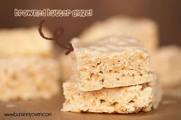 Browned Butter Rice Krispies Treats - you've never had a krispies treat like this before!!