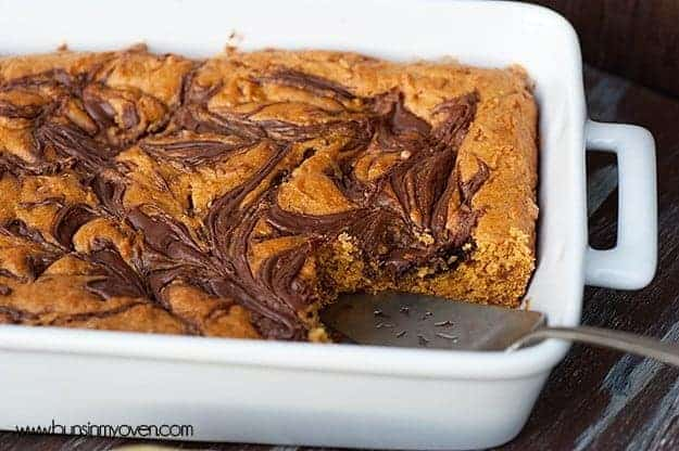 nutella pumpkin bars 4