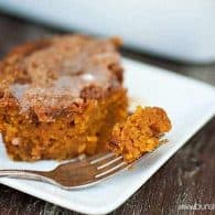Cinnamon Swirled Pumpkin Coffee Cake - dense and creamy like a pumpkin pie!