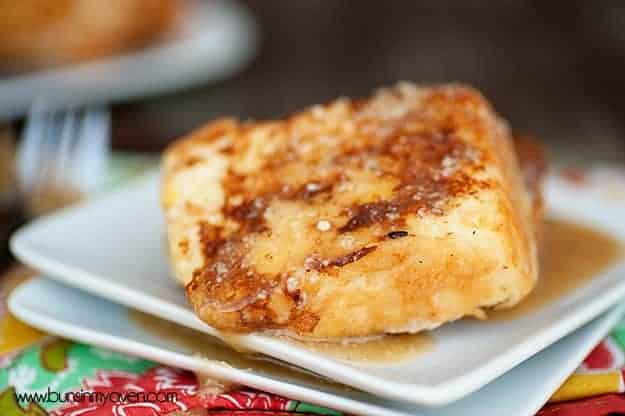 angel food cake french toast recipe with cream cheese maple syrup