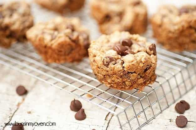 Browned Butter Oatmeal Cookie Cups #recipe
