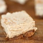 Cinnamon Cheesecake Bars with a Biscoff Crust!  #recipe