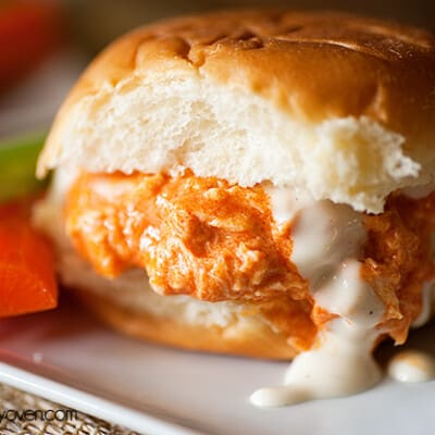 buffalo chicken pulled sandwiches recipe