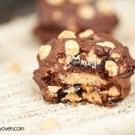 chocolate peanut butter reeeses sandwich cookies recipe 2