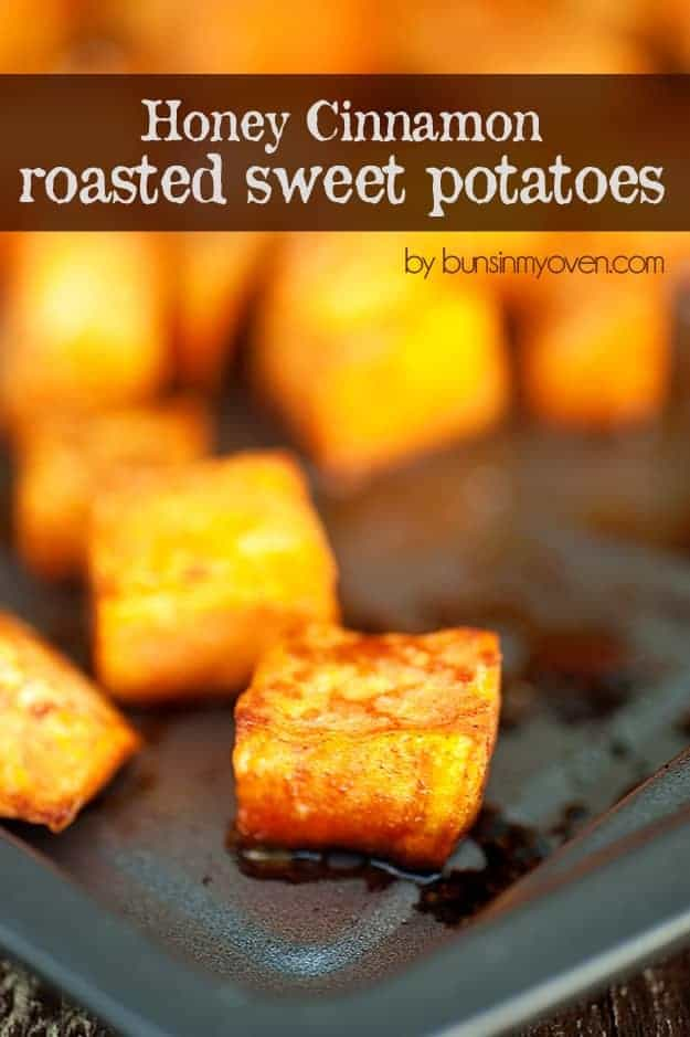 honey cinnamon roasted sweet potatoes recipe!