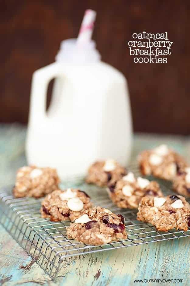oatmeal cranberry breakfast cookies recipe