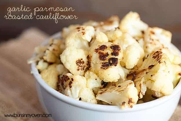 Garlic Parmesan Roasted Cauliflower #recipe