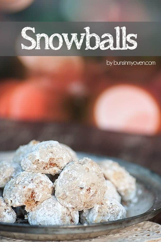 Snowballs Cookie Recipe