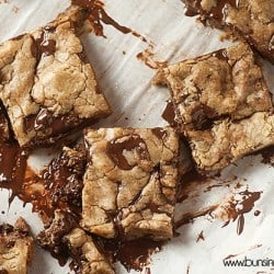browned butter dark chocolate cookie bars