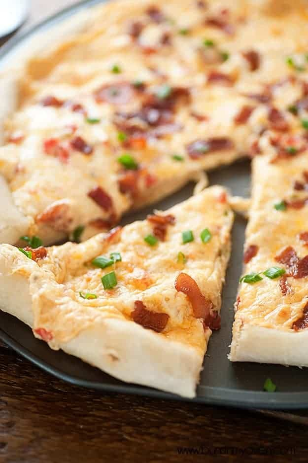 Pimento Cheese and Bacon Pizza #recipe