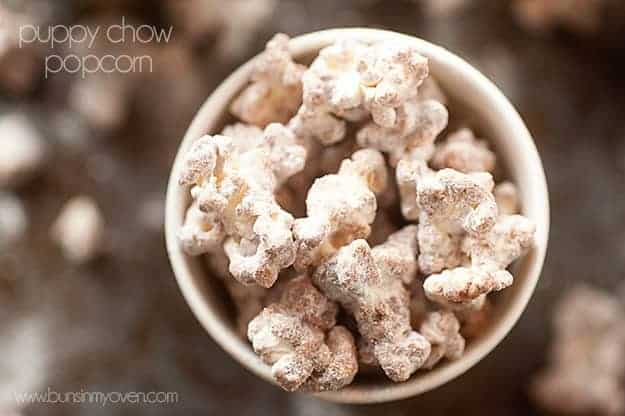 Puppy Chow Popcorn Recipe (Muddy Buddies in popcorn form!)